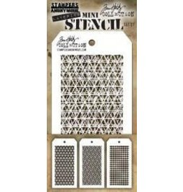 Tim Holtz Mini Stencil, Set #27