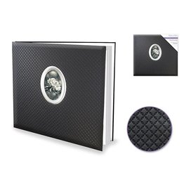 "MultiCraft Scrapbook Album: 12""x12"" PostBound w/10shts&prot -Diamond Stitch Black"