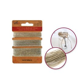 MultiCraft Craft Decor Ribbons: Natural Burlap Trim Multi-Pack 3yds (1yd x 3)