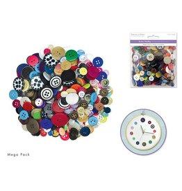 MultiCraft Button Embellishment: 150g Buttons Mega-Pack Medley