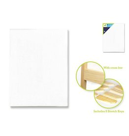 """MultiCraft Stretch Artist Canvas: Rect. 18""""x24"""" Primed Back-Stapled CP214"""