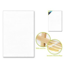 "MultiCraft Stretch Artist Canvas: Rect. 24""x36"" Primed Back-Stapled"