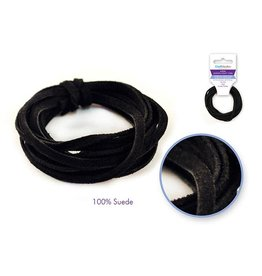 MultiCraft Jewelry/Craft Cord: 100% Suede 3mm Flat x2m - C) Black