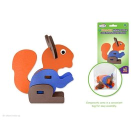 MultiCraft DIY Foam-Fun E-Z Animal Model Puzzles Squirrel