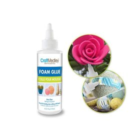 MultiCraft Craft Medley Glue: 4oz Foam Bond Clear-Drying Non-Toxic