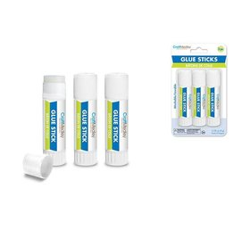 MultiCraft Craft Medley Glue: 8g Glue Sticks x3 Twist-Up Non-Toxic