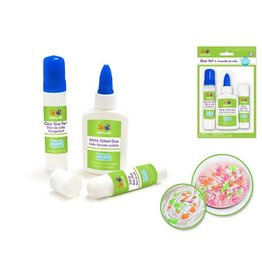 MultiCraft Krafty Kids: Glue Set x3 Non-Toxic