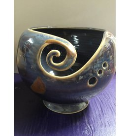 Kathy's Fiber Arts & Crafts Ltd Yarn Bowl Blue/Gold