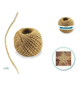MultiCraft Craft Medley: 3ply Natural Jute Cord 80g