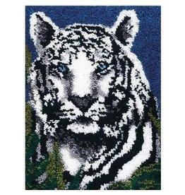 "Wonderart Wonderart Latch Hook Kit 24""X34"" White Tiger"