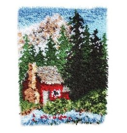 "Wonderart Wonderart Latch Hook Kit 15"" x 20"" Cozy Cabin"
