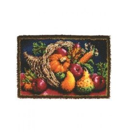 "Wonderart Wonderart Latch Hook Kit 20""X30"" Country Harvest"