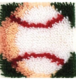 "Wonderart Wonderart Latch Hook Kit 8"" X 8"" Baseball"