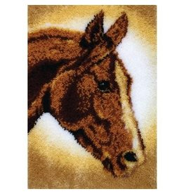 "Wonderart Classics Latch Hook Kit 20""X30"" Horse"
