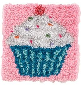 "Wonderart Wonderart Latch Hook Kit 12""X12"" Cupcake"