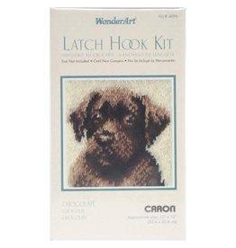 "Wonderart Wonderart Latch Hook Kit 12""X12"" Chocolate Dog"