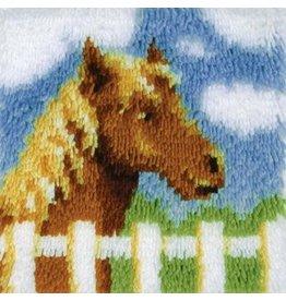 "Wonderart Wonderart Latch Hook Kit 12""X12"" Pony"