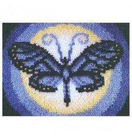 """Wonderart Wonderart Latch Hook Kit 15""""X20"""" Butterfly Moon"""
