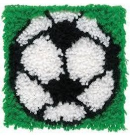 "Wonderart Wonderart Latch Hook Kit 8""X8"" Soccer"