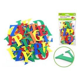 """MultiCraft Krafty Kids: 2"""" Foam-Fun Letters x52 Self-Stick - A) Cool Caps Primary"""