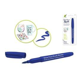 MultiCraft Blue Glass/Ceramic/Porcelain Paint  brush Marker Permanent 2ml