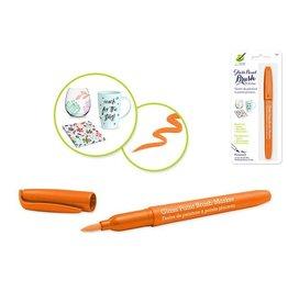 MultiCraft Orange Glass/Ceramic/Porcelain Paint  brush Marker Permanent 2ml