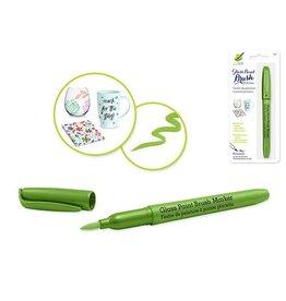 MultiCraft Light Green Glass/Ceramic/Porcelain Paint  brush Marker Permanent 2ml