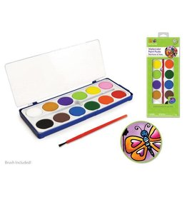 MultiCraft Krafty Kids: Watercolor Paint Pucks x12 w/ brush