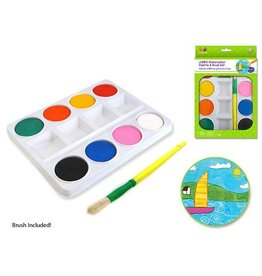 MultiCraft Jumbo Watercolor Paint Palette Set w/ brush