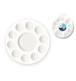 "MultiCraft Color Factory Paint Palette: 7"" Plastic Round 10-Well"