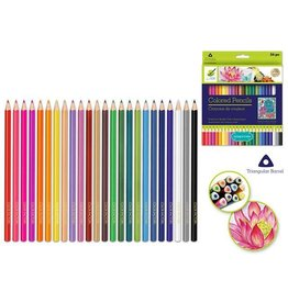 Craft Medley Color Factory Tool: Color Pencils x24 'Living In Color' Premium 3.0mm