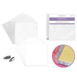 "MultiCraft Scrapbook Refills: 12""x12"" Pack 5pages+5shtprot+2extpost"