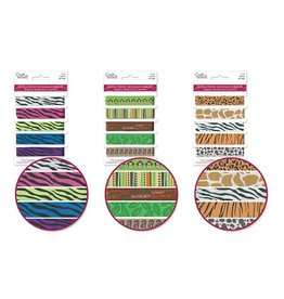 MultiCraft Craft Decor Ribbons: Grosgrain Design-Trends x5 (1yd ea) Animal
