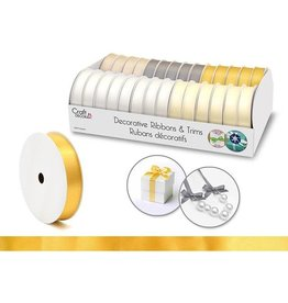 "Craft Decor Craft Decor Ribbons & Trims: 5/8"" x 4yd Rolls x28 Asst - C) Elegance"