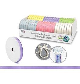 "Craft Decor Craft Decor Ribbons & Trims: 3/8"" x 5yd Rolls x46 Asst - B) Pastel"