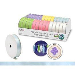 "Craft Decor Craft Decor Ribbons & Trims: 5/8"" x 4yd Rolls x28 Asst - B) Pastel"