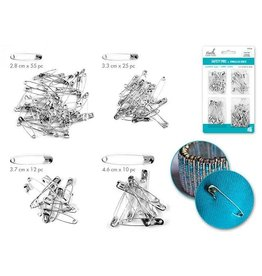 MultiCraft Needlecrafters: 28mm-46mm Safety Pins 102pc Value Pak Silver