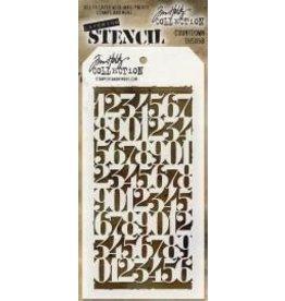 Tim Holtz Stencil, Countdown