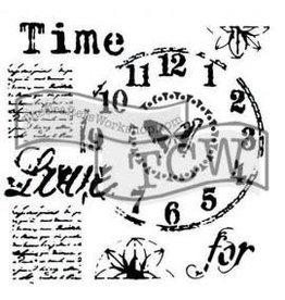Treasuremart Stencil,12x12, Time for Love