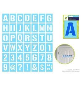 "MultiCraft Complete Letter Stencil Sets - 4"""