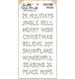 Treasuremart Stencil, Christmas