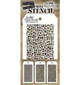 Tim Holtz Mini Stencil, Set #28
