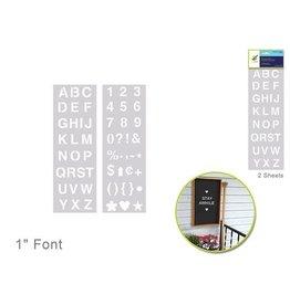 "MultiCraft Color Factory: 1"" Alpha/Numeric/Symbol Stencil 2-Sht Set"