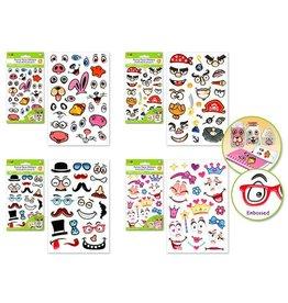 "Krafty Kids Krafty Kids Stickers: 4""x6"" 3D Funny Face"
