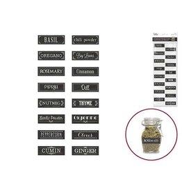 """MultiCraft Craft Decor: 4.5""""x12 Chalkboard Storage Label Sticker Herbs & Spices"""