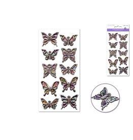 MultiCraft ss128f Paper Craft Sticker: 9cmx17.5cm 3D Embossed Vintage Elegance  Butterflies