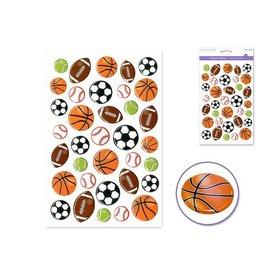 "MultiCraft 5.5""x8.25"" 3D Gel/Laser/Foil - D) Sports Balls"