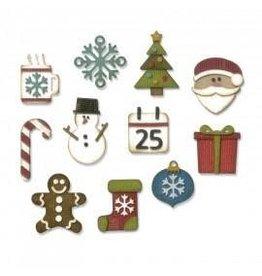 Tim Holtz Thinlits Die Set, Mini Christmas Things 11Pk