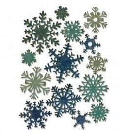 Tim Holtz Thinlits Die Set, Mini Paper Snowflakes 14Pk