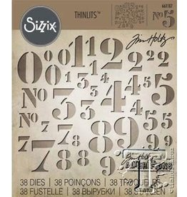 Tim Holtz Thinlet Numbers No5 38 pcs